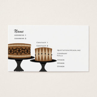 Decadent Chocolate Cakes Business Card
