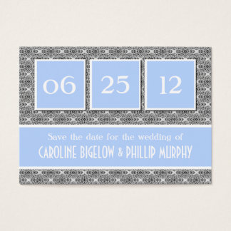 Decadent Damask Save the Date Card