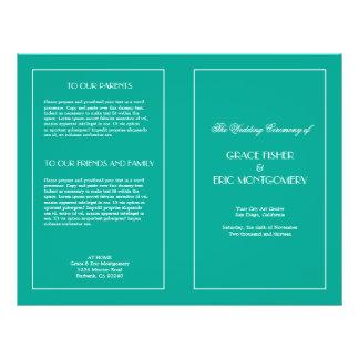 Decadent Deco elegant chic formal wedding program