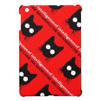 Decadent Hipster Glasses Cat pattern – red & black iPad Mini Cases