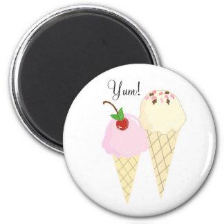 Decadent Ice Cream Cones Magnet