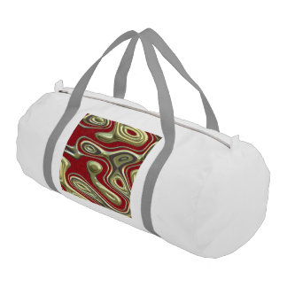 decadent illusion,red gym duffle bag