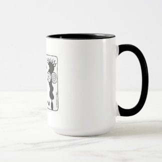 Decaf & Caf, a couple coffee drinkers Mug