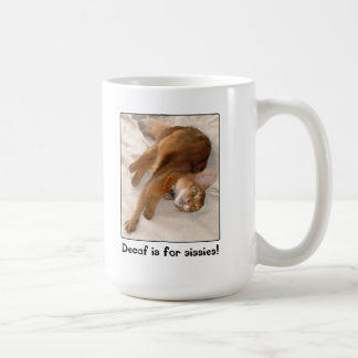 Decaf Is for Sissies Kitty Mug
