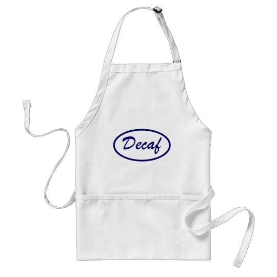 Decaf Name Patch Decaffeinated Adult Apron