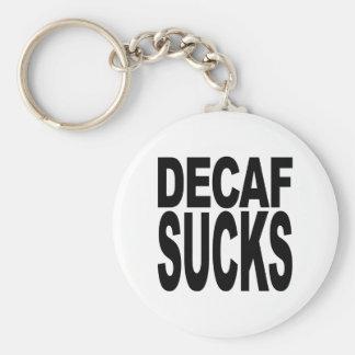 Decaf Sucks Basic Round Button Keychain