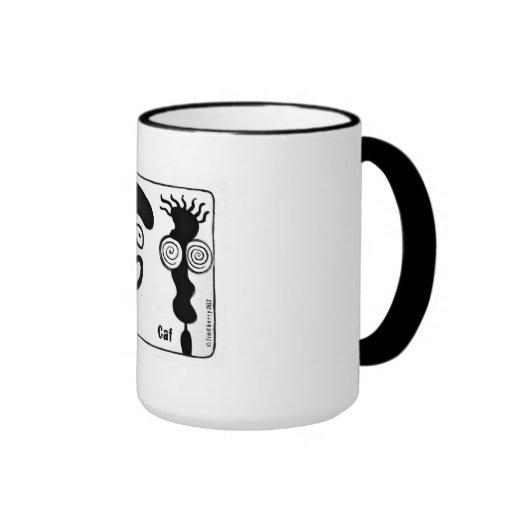 Decaf y Caf, bebedores de un café de los pares Tazas