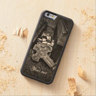 Decaimiento cruzado caido cementerio del funda de iPhone 6 bumper arce