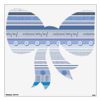 Decal - Bow - Welcome Baby Boy