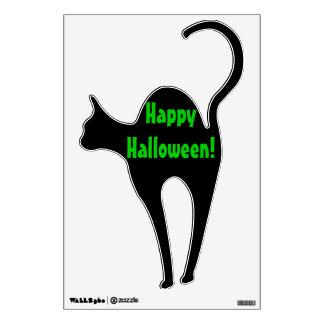 "Decal - Cat - ""Happy Halloween"" Black Cat"