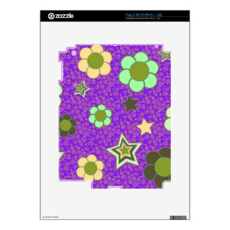 Decal for iPad 2 with Stars and Flowers!