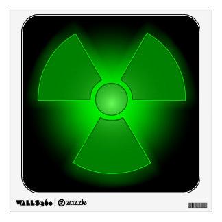 Decall radiactivo de la pared vinilo