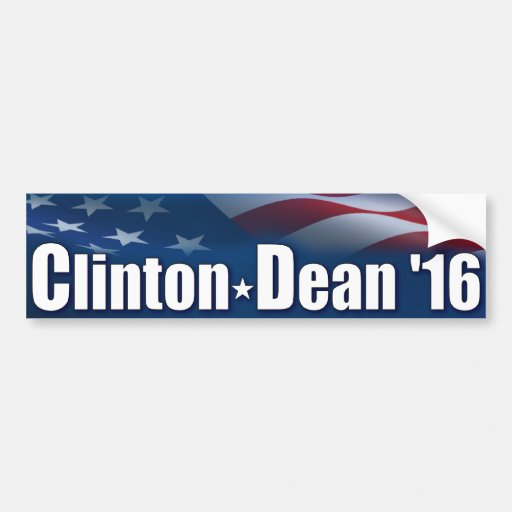 Decano '16 de Clinton Pegatina Para Auto