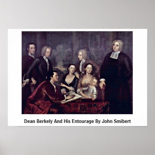 Decano Berkely y su comitiva de Juan Smibert Poster