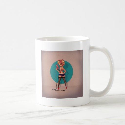 Decano de Alexis - modelo modelo con un secador de Taza De Café