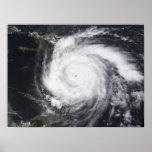 Decano del huracán en el Atlántico y el Caribe Poster