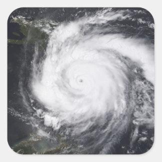 Decano del huracán en el Atlántico y el Caribe Calcomanía Cuadradas Personalizadas