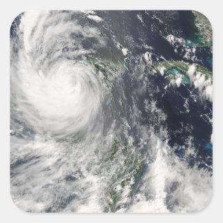 Decano del huracán calcomanía cuadradas personalizadas