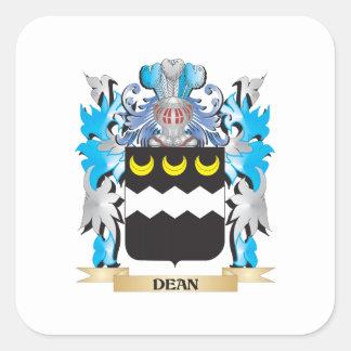 Decano escudo de armas - escudo de la familia calcomanía cuadradase