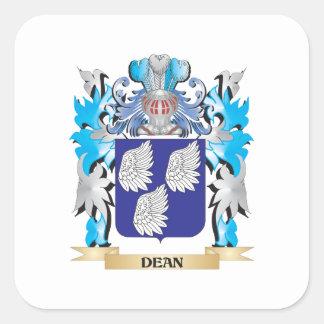 Decano escudo de armas - escudo de la familia calcomanías cuadradass