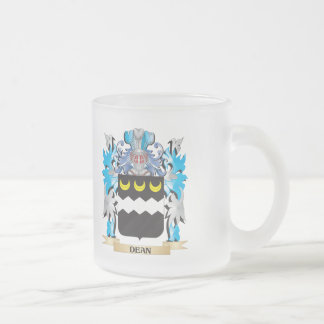 Decano escudo de armas - escudo de la familia taza cristal mate