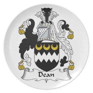 Decano Family Crest Plato Para Fiesta