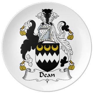 Decano Family Crest Plato De Cerámica