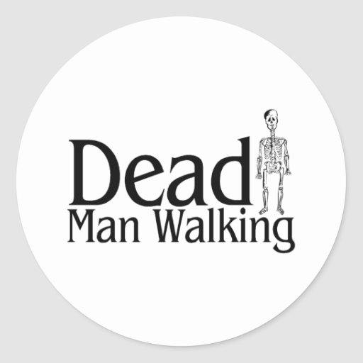 Decano Man Walking Pegatina Redonda