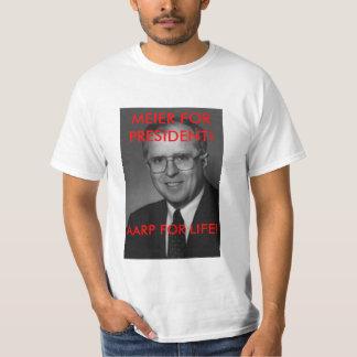 ¡Decano, MEIER PARA el PRESIDENTE! ¡, AARP PARA LA Camisas