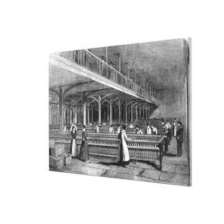 Decano Mills - el cuarto de duplicación, 1851 (lit Impresiones En Lienzo Estiradas