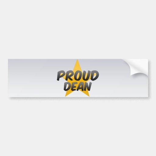 Decano orgulloso etiqueta de parachoque