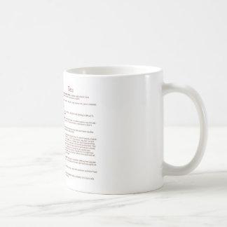 Decano (significado) taza básica blanca