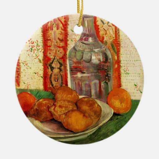 Decanter and Lemons on a Plate by van Gogh Christmas Tree Ornaments
