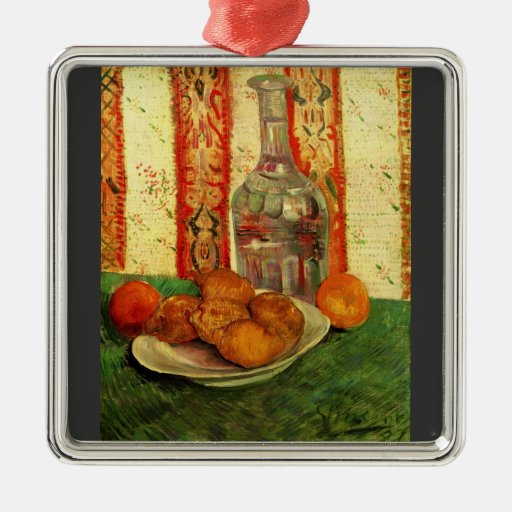 Decanter and Lemons on a Plate by Van Gogh Christmas Tree Ornament
