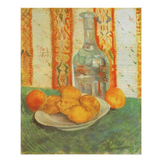 Decanter and Lemons on a Plate by Vincent van Gogh Poster
