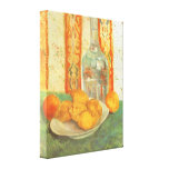 Decanter and Lemons on Plate; Vincent van Gogh Stretched Canvas Print