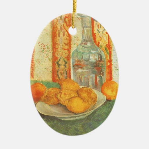 Decanter and Lemons on Plate; Vincent van Gogh Christmas Ornaments