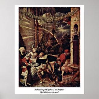 Decapitación de San Juan Bautista de Niklaus Manue Impresiones