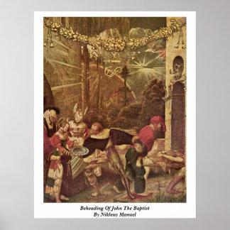 Decapitación de San Juan Bautista de Niklaus Manue Poster