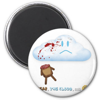 Decapitated Bear and Cloud 2 Inch Round Magnet