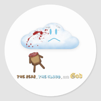 Decapitated Bear and Cloud Classic Round Sticker