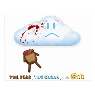 Decapitated Bear and Cloud Postcard