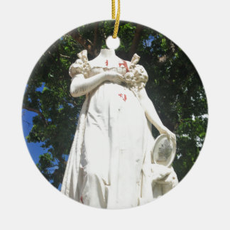Decapitated statue in Martinique Ceramic Ornament