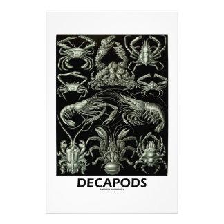 Decapods Ernest Haeckel Artforms Of Nature Stationery