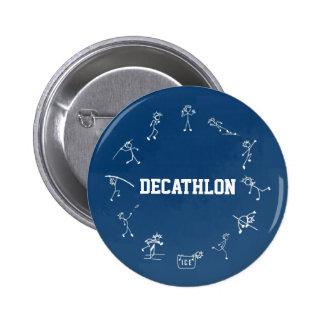 Decathlon Stickman Track and Field Athletics Blue Button