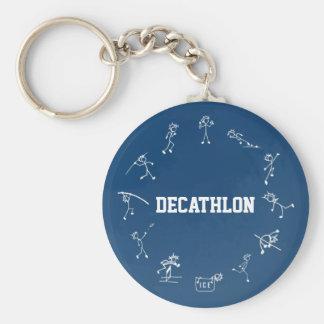 Decathlon Stickman Track and Field Athletics Blue Keychain