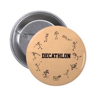 Decathlon Stickman Track and Field Athletics Button