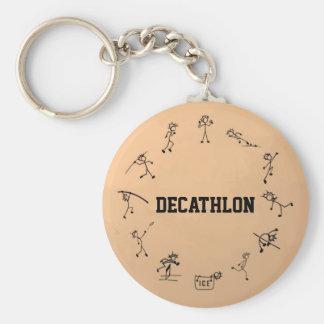 Decathlon Stickman Track and Field Athletics Keychain