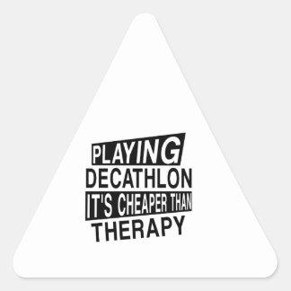 DECATHLON su más barato que terapia Pegatina Triangular