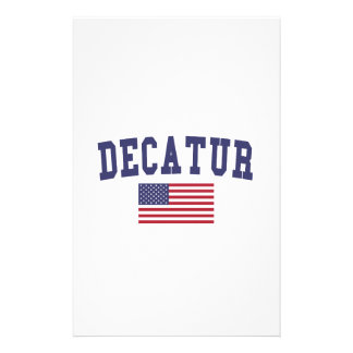 Decatur AL US Flag Stationery